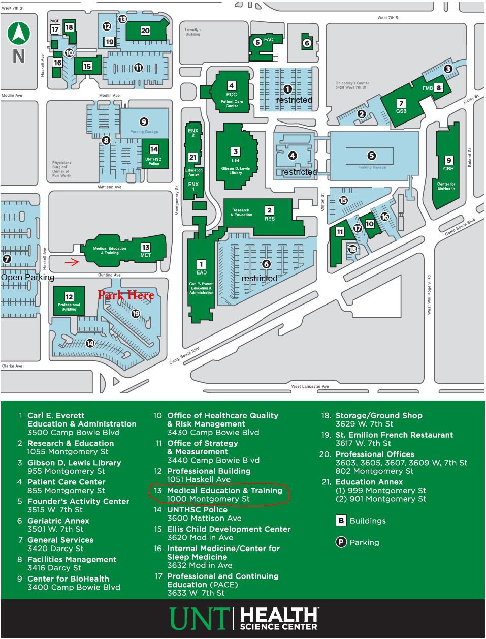 map of unt campus Unt Campus Map Met Medical Education Training Ensigntherapy Com map of unt campus